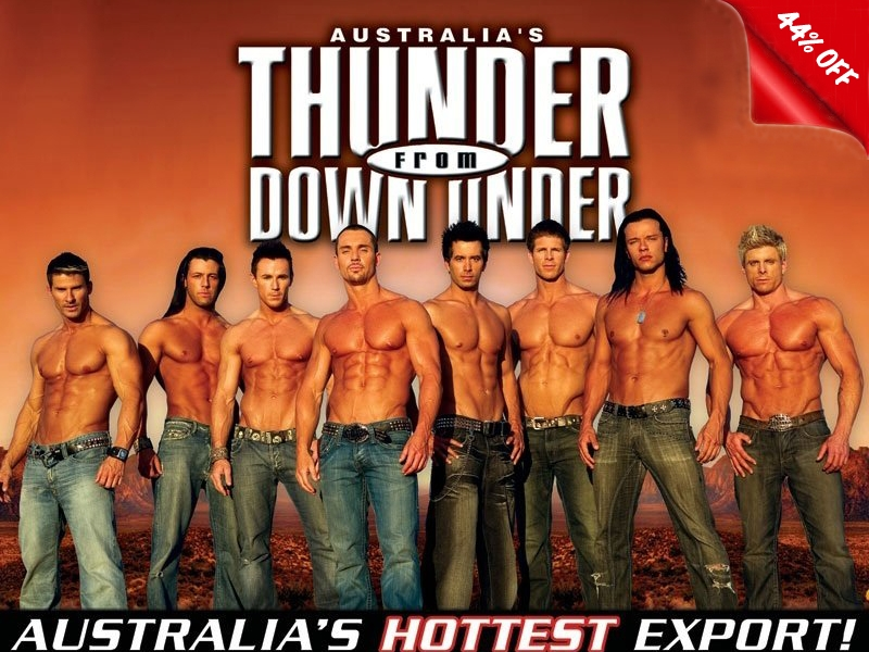Thunder From Down Under @ Excalibur hotel