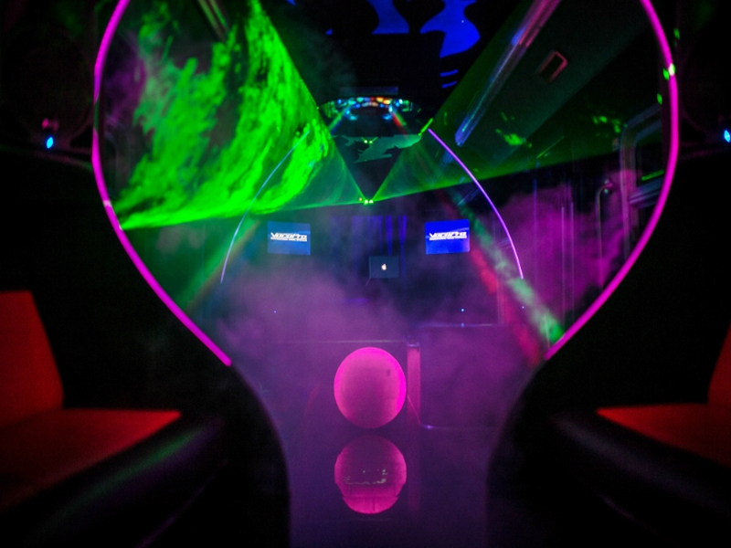 Lasers + Smoke machine + Strobe lights
